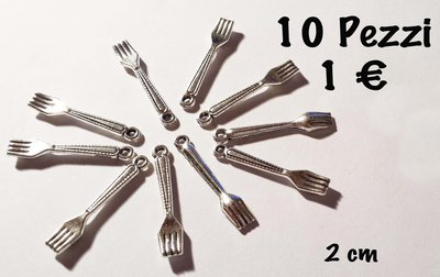 10 Ciondoli forchetta