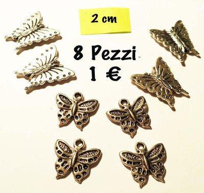 8 ciondoli a farfalla