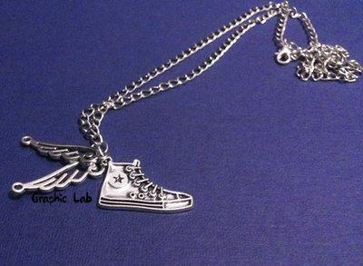 Collana Figli di Hermes Scarpa Converse con Ali Percy Jackson