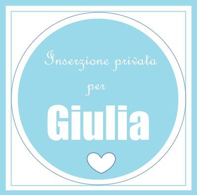 Cornice 10*15cm con miniature 'orsetto con corona' per Giulia