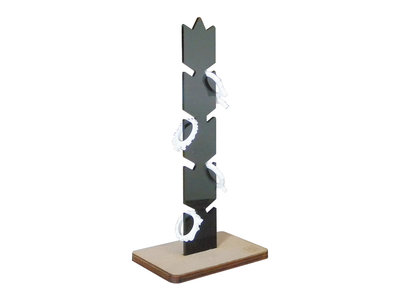 Holin, porta anelli in acrilico e legno