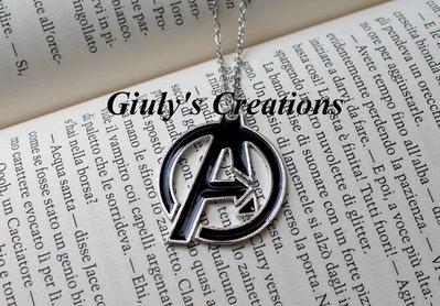 Collana The Avengers simbolo Iron Man Hulk Vedova Nera Capitan America Marvel