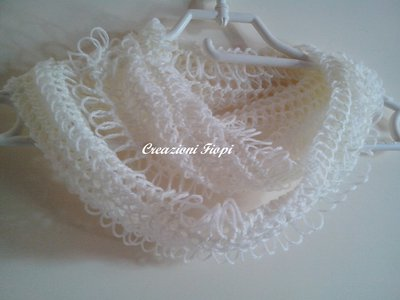 Infinity Sciarpa Fatta A Uncinetto Forcella Donna Abbigliamento