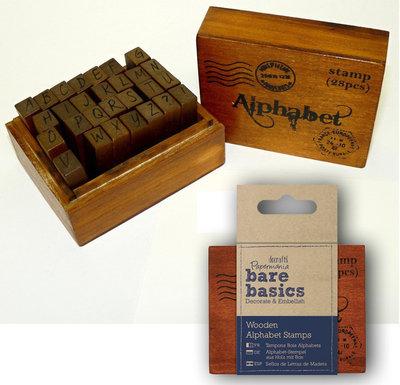 Set 28 timbri in legno - Alfabeto