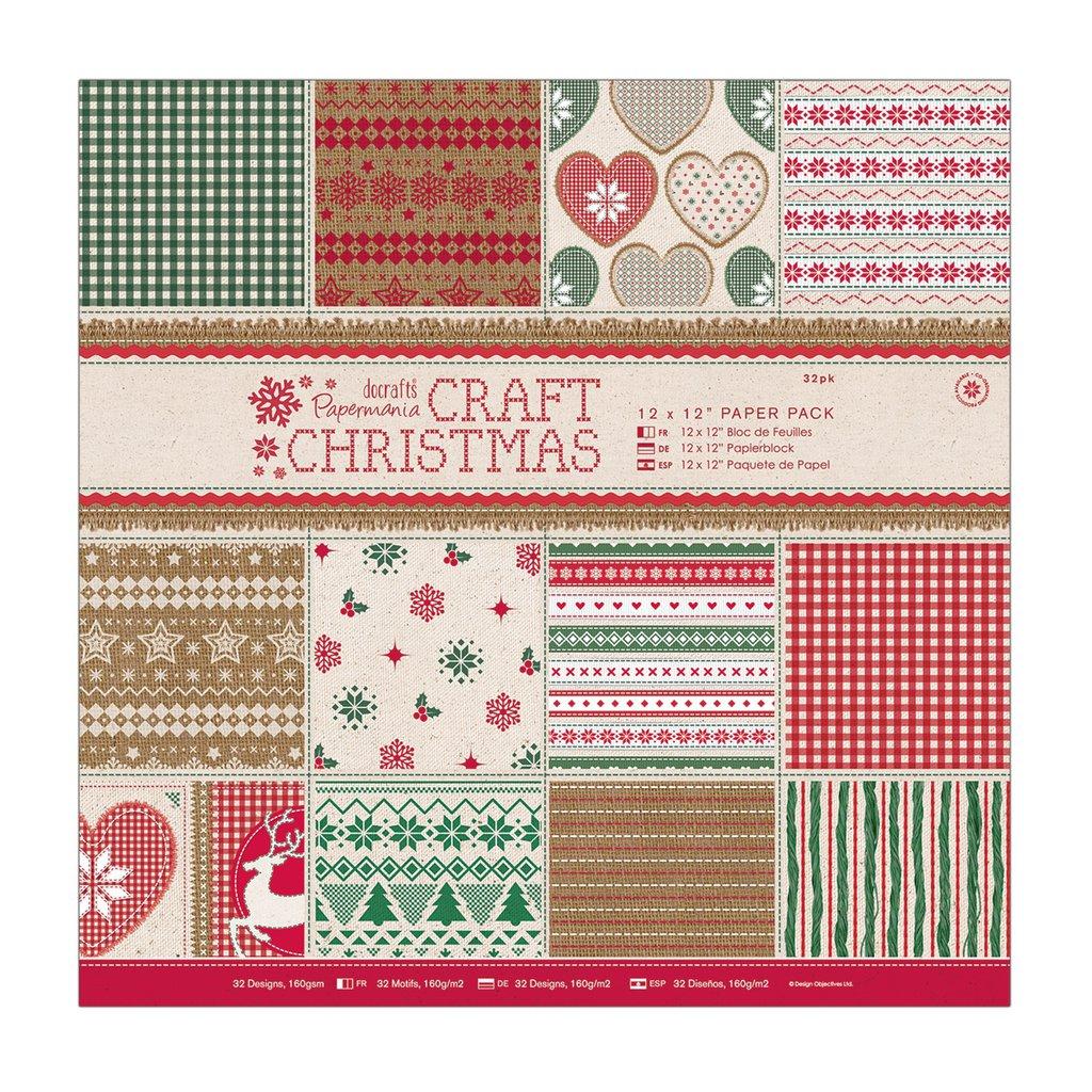 Blocco di carta 30x30 cm - Craft Christmas