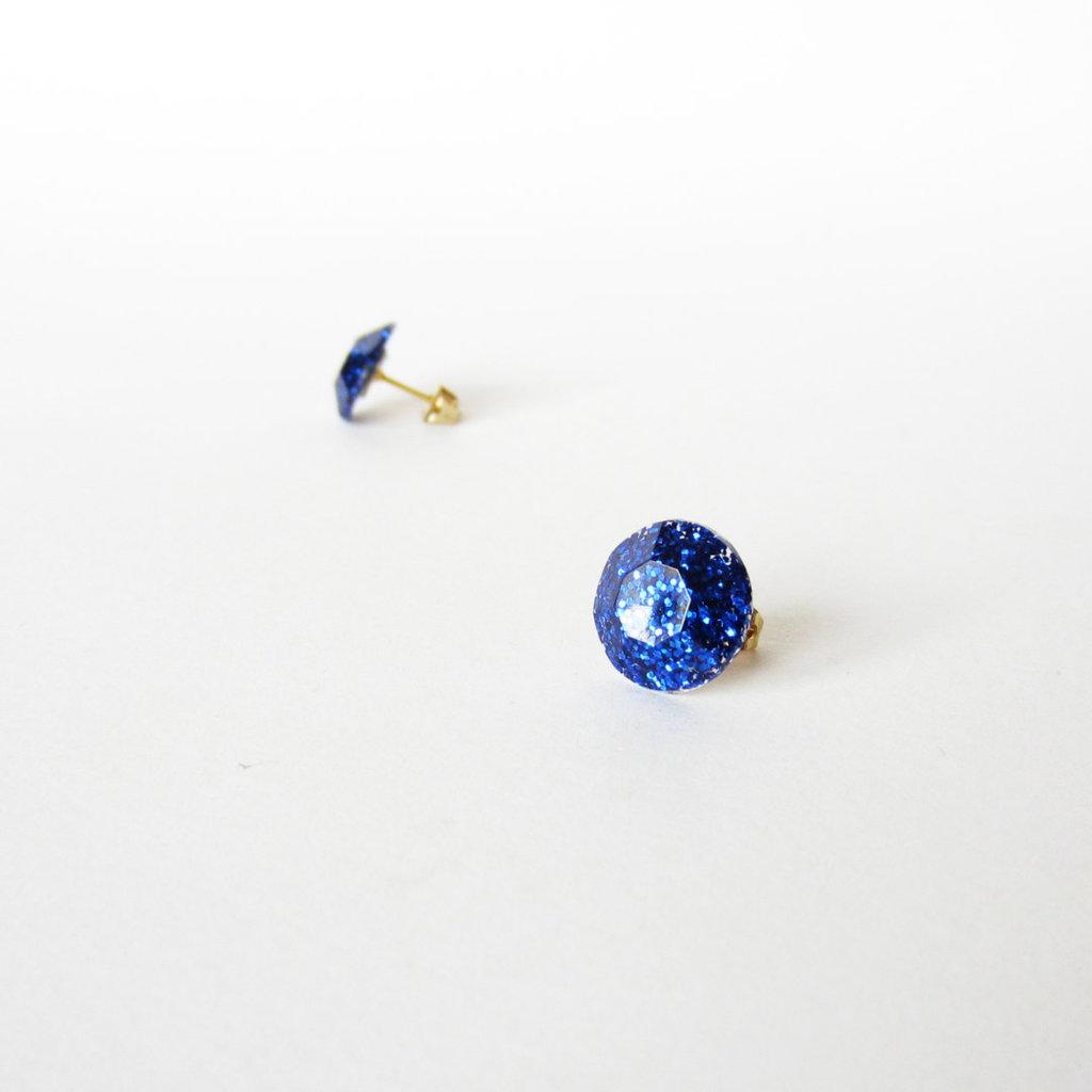 Piccoli ORECCHINI MIDNIGHT BLU glitter