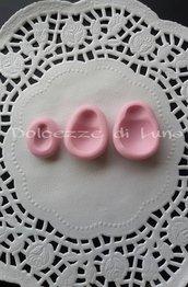 set 3 pezzi STAMPO COCCINELLA stampino in silicone per oggetti in fimo misura soggetto 1,4 cm  2 cm e 2,5 cm circa