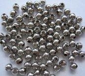 100pz Perline argentate