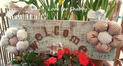 pannello benvenuto con fiori romantic and country style
