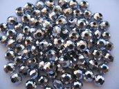 20pz Perle in vetro sfaccettate