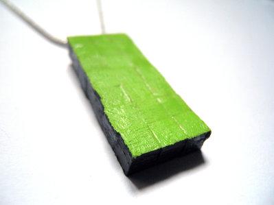 Koci, collana in legno fatta a mano verniciata
