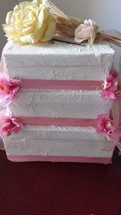 torta portabuste matrimonio personalizzabile fatta a mano