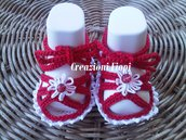 Sandaletti Sandali a uncinetto Neonato rossi