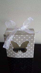 scatolina lanterna con farfalla matrimonio battesimo comunione