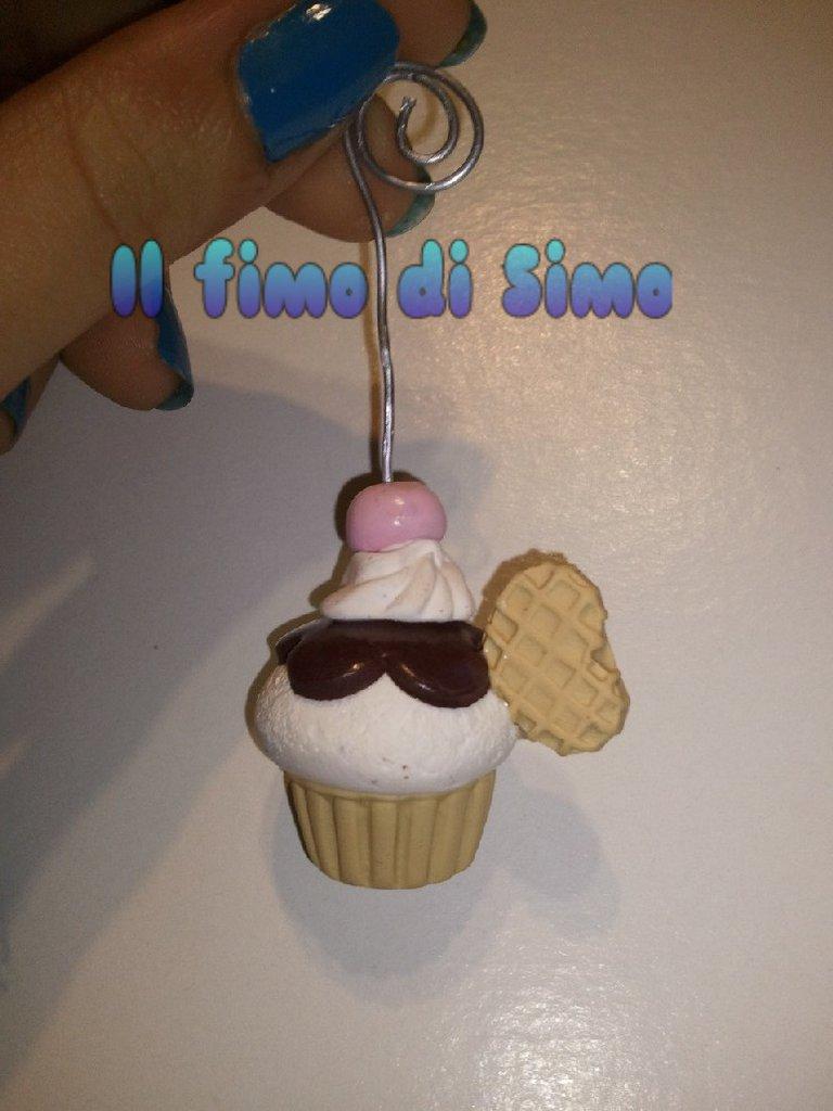 portafoto segnaposto cupcake in fimo