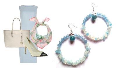 """Orecchini """"Blue loops"""" con agata blu"""
