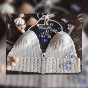 Crop Top Crochet Uncinetto Reggiseno Costume