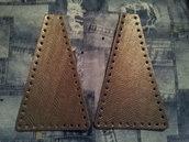 Laterali a triangolo per borse fettuccia