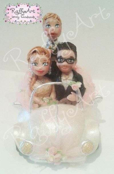 """Cake topper matrimonio """"Beatlelove (mod. 2)"""" (personalizzabile)"""