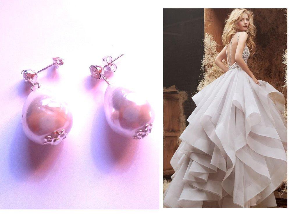 """Orecchini """"Simple"""" con perle barocche e cristallo"""