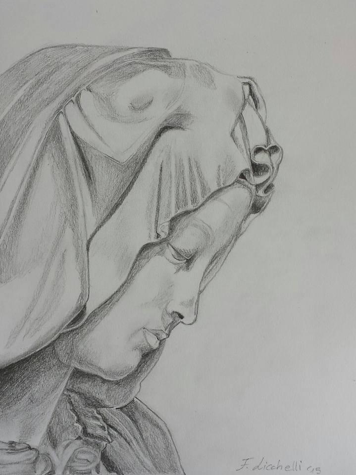 disegno matita - pietà