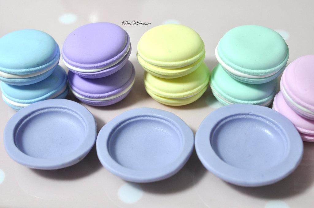 Stampo Silicone Flessibile macaron,Miniature cibo,gioielli,charms,macaron,fimo,polymer clay,resina,sapone,dolce,30mm,Parigi ST158 Attiva