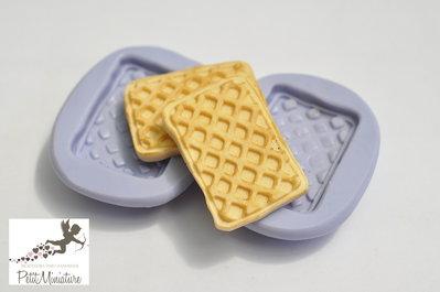Stampo Silicone Flessibile biscotto rettangolare,Miniature cibo,gioielli,charms,biscotto,fimo,polymer clay,resina,sapone,dolce,20mm ST190 Attiva