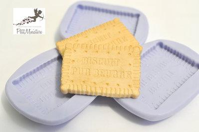 Stampo Silicone Flessibile biscotto rettangolare,Miniature cibo,gioielli,charms,biscotto,fimo,polymer clay,resina,sapone,dolce,35mm ST191 Attiva