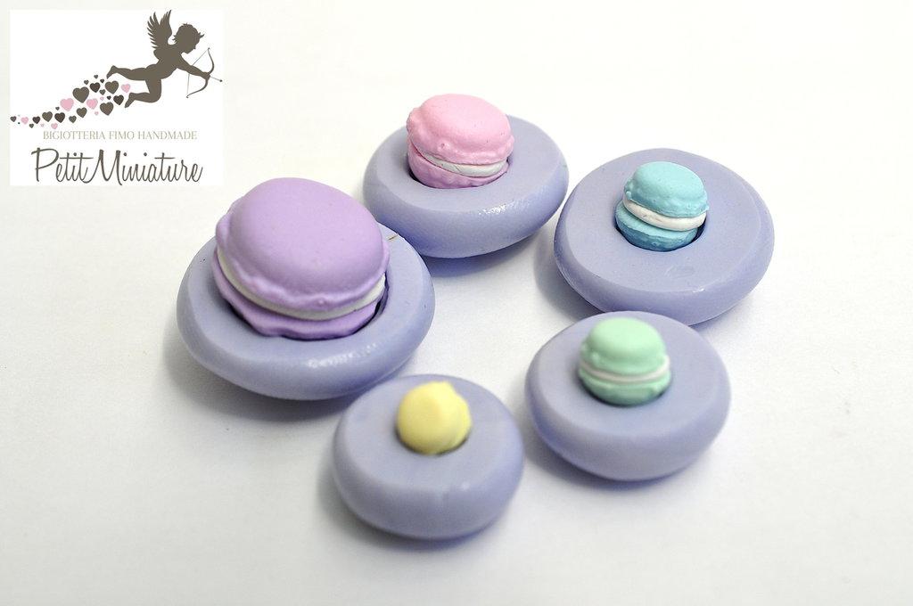 KIT Stampo Silicone Flessibile macaron,Miniature cibo,gioielli,charms,macaron,fimo,polymer clay,resina,sapone,dolce,Parigi ST194 5 stampi