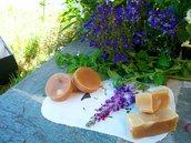 Sapone per il viso miele e cera d'api all'arancia e bergamotto