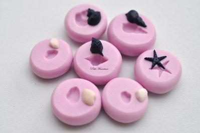 Stampo silicone flessibile fimo stampo dollhouse miniatura conchiglia mare torta  fimo gioielli kawaii scala 1:12 gioielli st080