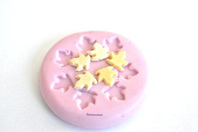 Stampo silicone flessibile fimo stampo dollhouse miniatura torta piccola foglia fimo gioielli kawaii scala 1:12 gioielli ST081