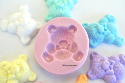 Stampo Silicone Flessibile orsacchiotto ,Miniature cibo,gioielli,charms,orso,fimo,polymer clay,resina,sapone,dolce,ST101