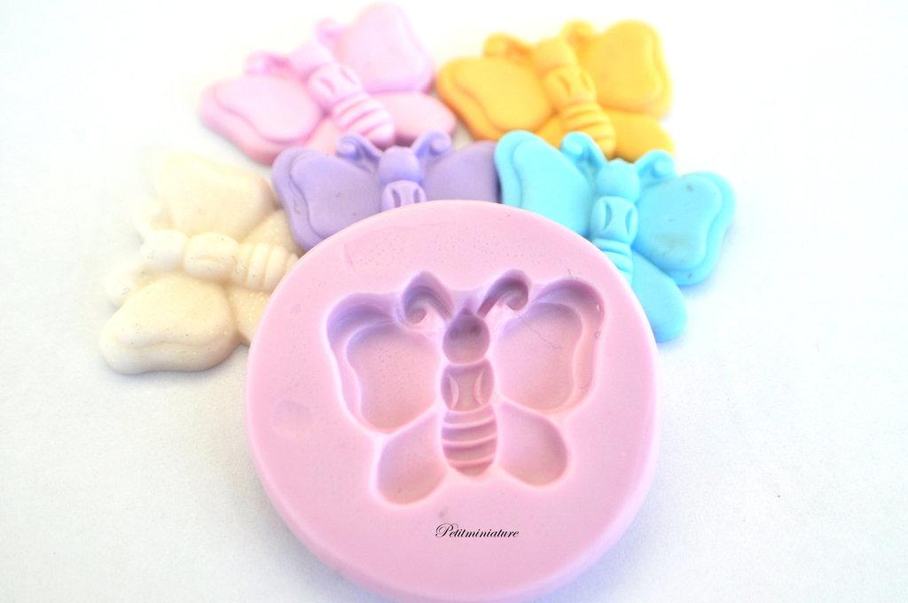 Stampo Silicone Flessibile farfalla ,Miniature cibo,gioielli,charms,fimo,polymer clay,resina,sapone,dolce,ST102