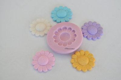 STAMPO FIORE 2cm ST104 in silicone flessibile 3d macaron miniature dollhouse charm kawaii fimo gioielli sapone resina gesso