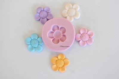 STAMPO FIORE 2cm ST105 in silicone flessibile 3d macaron miniature dollhouse charm kawaii fimo gioielli sapone resina gesso