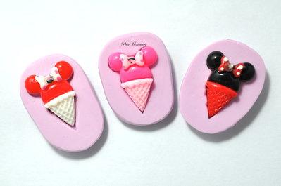 Stampo Silicone Flessibile cono gelato,Miniature cibo,gioielli,charms,gelato,fimo,polymer clay,resina,sapone,dolce,20mm ST121