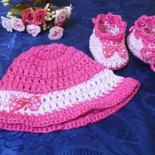 SCARPETTE + cappellino bambina realizzate ad uncinetto in cotone o lana ...a scelta