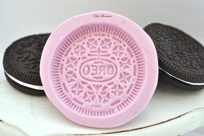Stampo silicone flessibile Oreo misura originale,4,3cm,stampo biscotto,stampo oreo,stampo gioielli ST123
