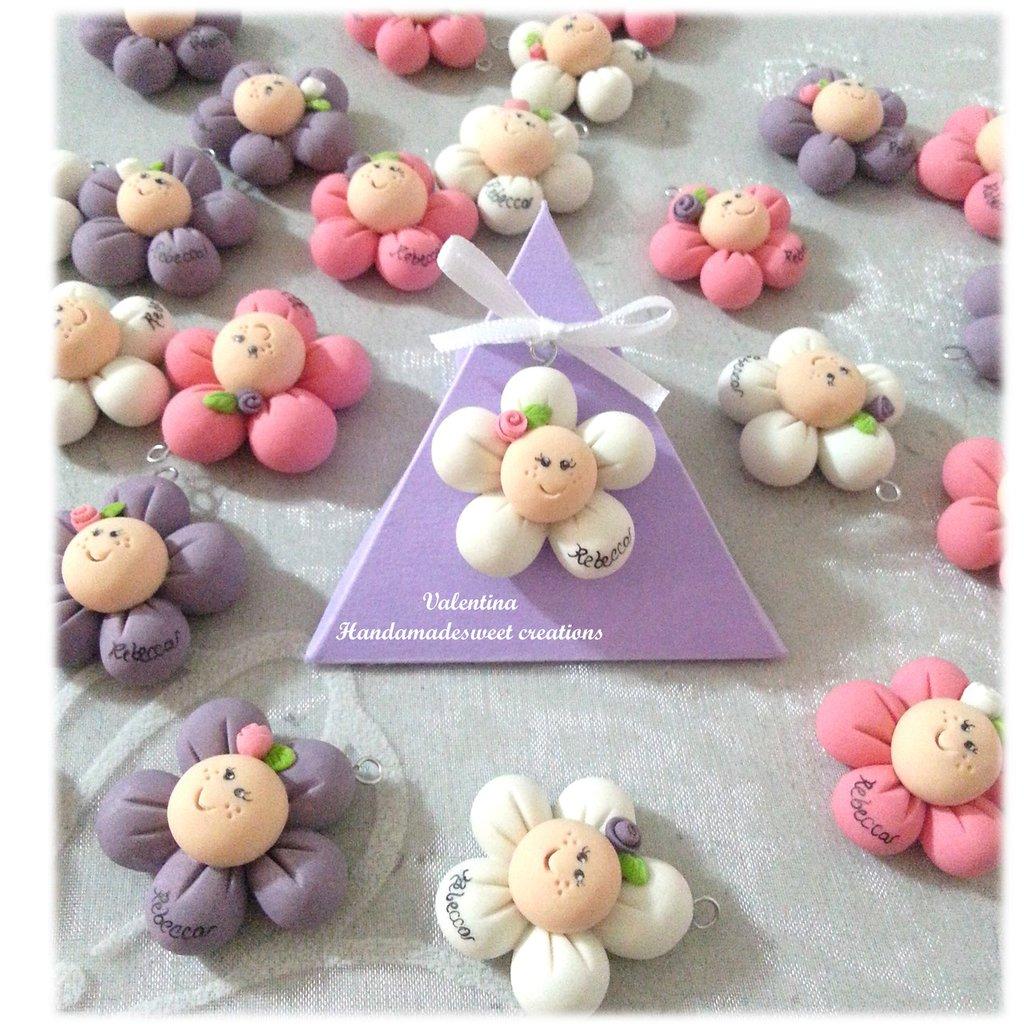 Per Cristina- bomboniera nascita follettina fiore angelo