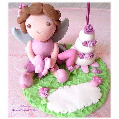 Cake topper fatina follettina 1 anno compleanno portafoto
