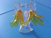 orecchini fiore, plastica modellata