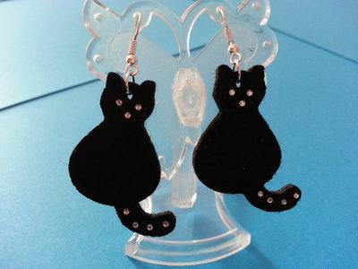 orecchini in feltro a forma di gatto