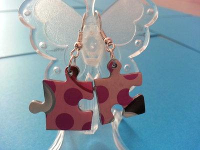 orecchini puzzle tasselli piccoli