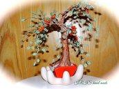 Rosa spinosa bonsai di perline