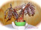 Rami di ciliegio -bonsai di perline