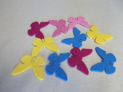Farfalle in feltro multicolor