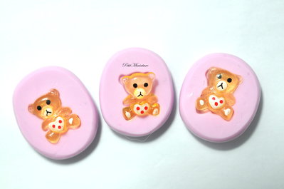 Stampo Silicone Flessibile orsacchiotto ,Miniature cibo,gioielli,charms,orso,fimo,polymer clay,resina,sapone,dolce,ST126