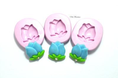 Stampo Silicone Flessibile Fiore-Kawaii charm stampo fimo-stampo gioielli-resina-sapone-gesso-fimo