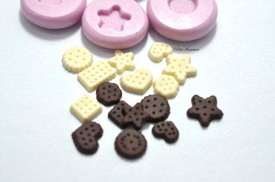Stampo Silicone Flessibile biscotto rettangolare,Miniature cibo,gioielli,charms,biscotto,fimo,polymer clay,resina,sapone,dolce,24mm ST129